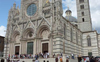 Duomo van Siena in zwartwit
