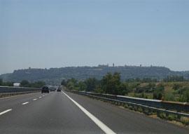 Met de auto naar Toscane