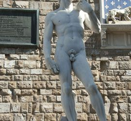 De David van Michelangelo in Florence