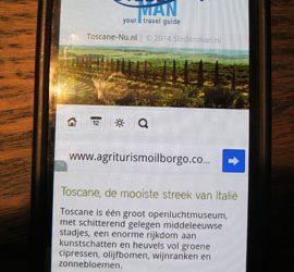 Toscane-Nu op je mobiel!